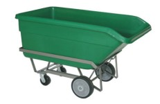Green Dump Tub on Cart