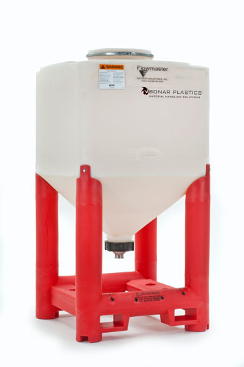 Sanitary Viscous Flowmaster Hopper, Red Base