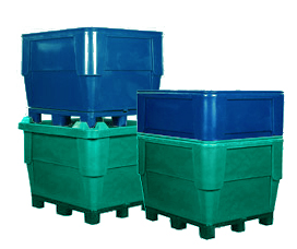 1140 Series Single Wall Bin, Replaceable Base