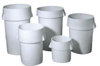 White Plastic Utility Drums